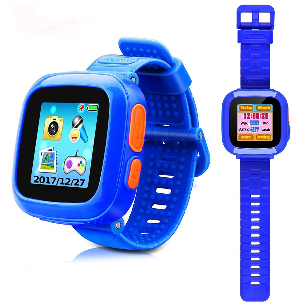 Kids Smart Watch, Game Watches for Girls Boys, Digital Wrist Watch, Smart Watch for 3-12 Years, Touch Screen Camera Smartwatch Great Gift for Children(Blue)
