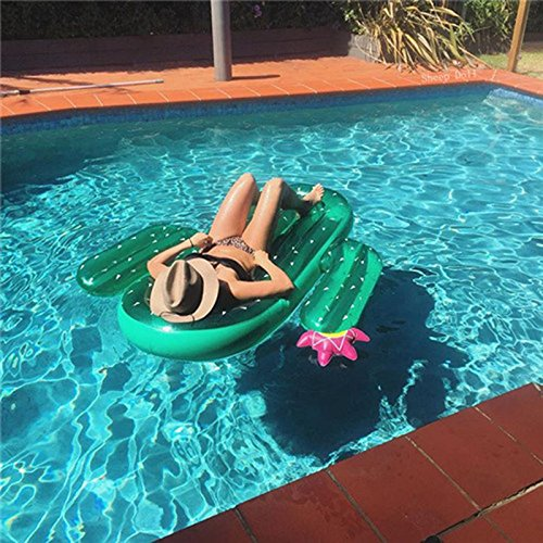 Cactus Swimming Pole Lake Inflatable Floats and Loungers for adults Inflatable Bed (180 * 140 * 20 cm) 71in * 55in-cactus: Amazon.es: Juguetes y juegos