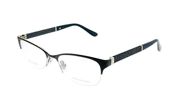 f38a4c5480d7 Image Unavailable. Image not available for. Color  Jimmy Choo Jimmy Choo 106  0P8H Blue Glitter Eyeglasses