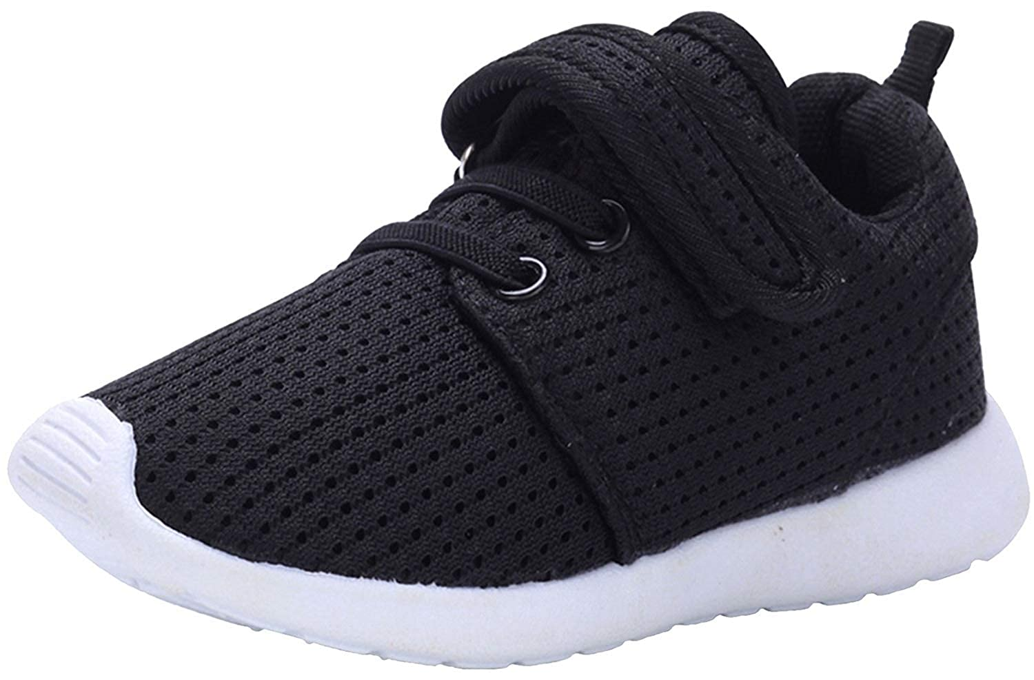 MOREMOO Boys Girls Breathable Magic Tape Casual Sneaker Running Shoes