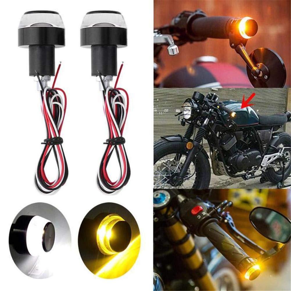 2 St/ücke LED Motorrad Lenkerende Blinker Licht Universal Blinker Blinker Lenker Blinker Seitenleuchte