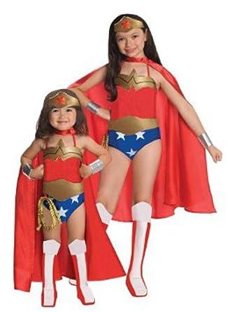 Amazon.com: Rubies Little Girls Deluxe Wonder Woman ...
