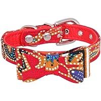 RongZom Halsband für Hunde, verstellbar, Katzenhalsband und Schleife