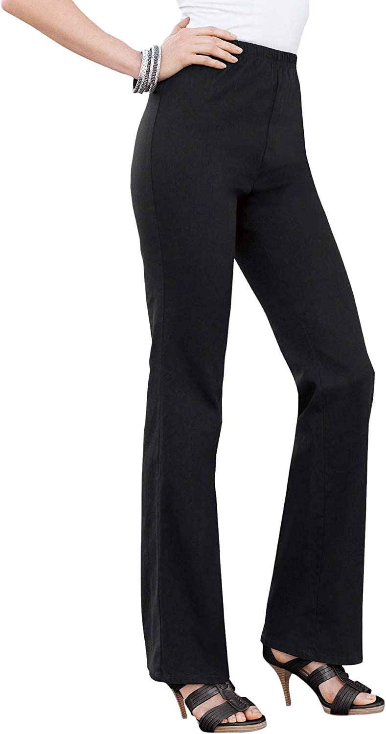 Women Bootcut Jeans Stretch Flared Denim Ladies Trousers Long Pants Size 6-20 *
