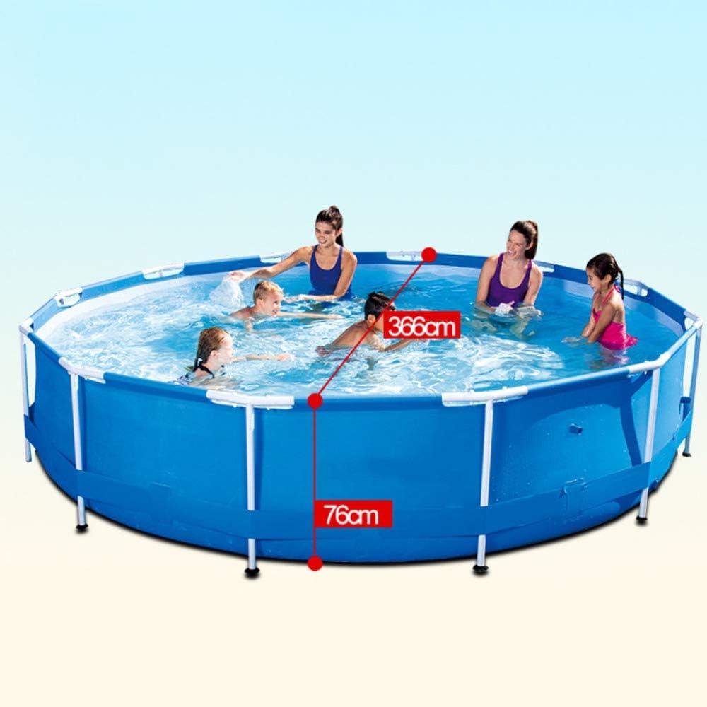 38cm Family Swimming Pool Outdoor Bracket Heightening Thickening Adult Swimming Pool Summer Garden Round Children Paddling Pool,Blue-152