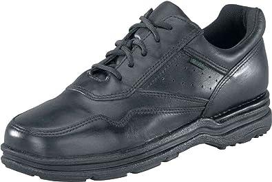 Rockport Womens Black Leather Work Shoes Postwalk Athletic Oxford 6 M 02a5ae8c82