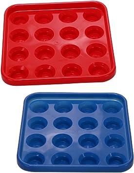 Toygogo 2 Piezas De Billar De Plástico Duradero O Una Bandeja De ...