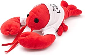"""Friends You're My Lobster Plush – Cool TV Props Friends Lobster Stuffed Animal Plush – Ross Geller Rachel Green Lobster Stuffed Animal in Cute White T-Shirt – 8"""" (20cm) Head to Tail, 6"""" (15cm) Claw to"""
