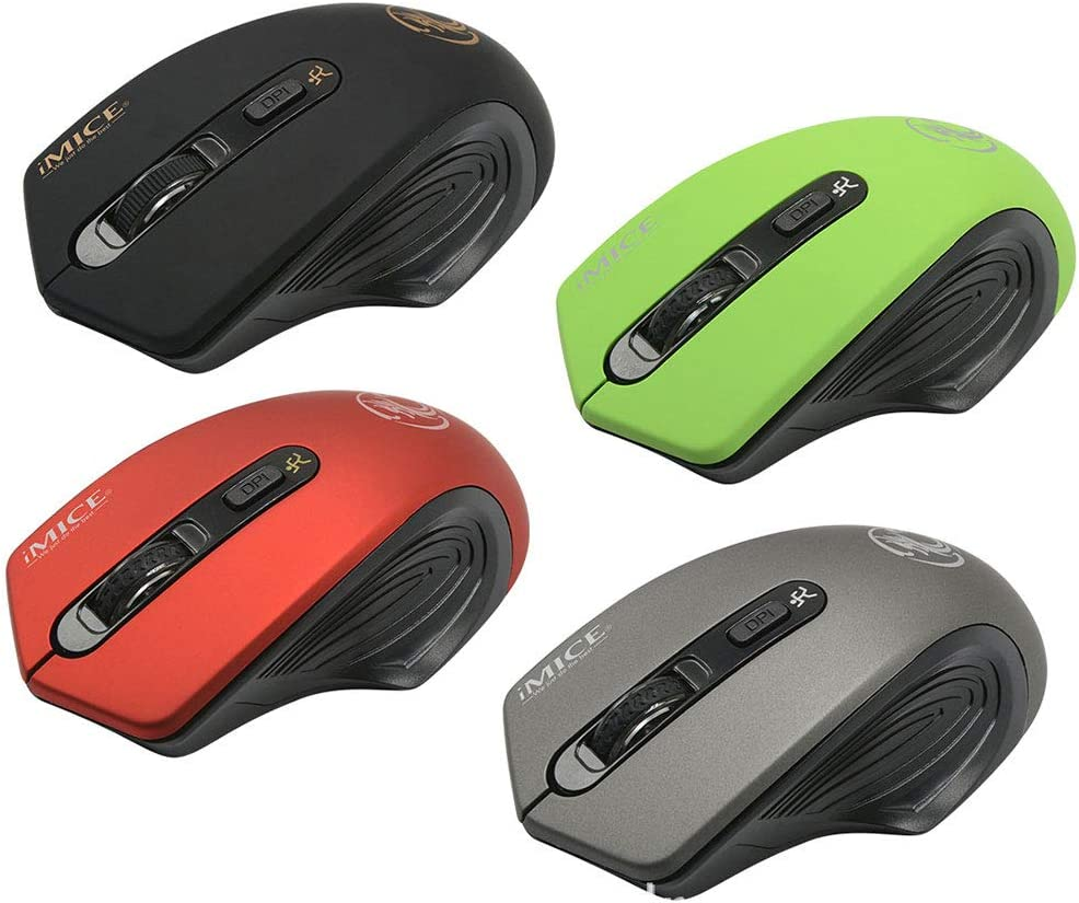 GUODLIN 2.4G Slim Wireless Mouse with Nano Receiver Noiseless and Silent Click with 1600 DPI for PC Laptop Tablet Computer and Mac 4 Colors Can be Choose Color : Elegant Black+Exclusive Color Box
