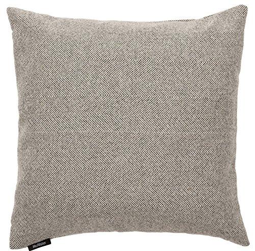 McAlister Herringbone Extra Large Pillow Cover / Euro Sham | Plush Wool-Textured Striped Cushion Chevron Case | Charcoal Gray 24x24