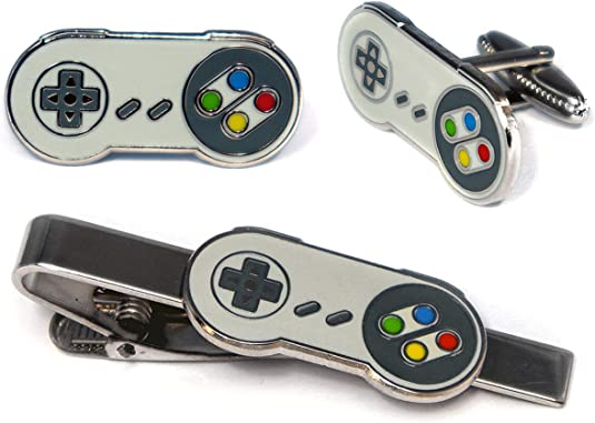 Engraved gamepad cuff links Game controller Gamepad jewelry Video games cufflinks Gamer cuff links Gift for geek Gamer gift Tie clip Tie bar
