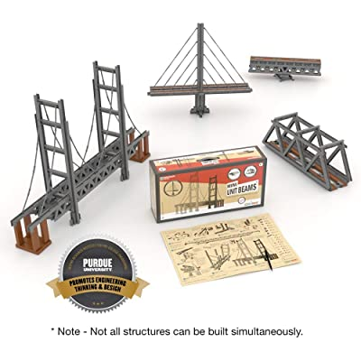 UB UNITBRICKS Unit Bricks 620 PCS Bridge Building Classroom Kit - STEM Learning Toy for with Instruction Manual: Toys & Games