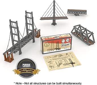 Amazon Com Ub Unitbricks Unit Bricks 620 Pcs Bridge Building Classroom Kit Stem Learning Toy For With Instruction Manual Toys Games