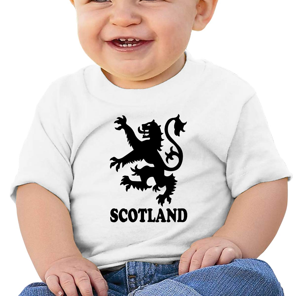 Lion Rampant Scotland Scottish Newborn Baby Short Sleeve Crewneck Tee Shirt 6-18 Month Tops