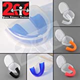 2fit ® Adults & Kids Senior/Junior Gum Shield & Case Mouth Guard Boxing MMA Senior Junior Rugby Sports Protection Adult Kids Mouthguard Kickboxing