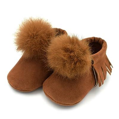 Chaussures de bébé,Stillshine Bébés Garçons Filles Prewalker poilues Tassel Soft Sole Chaussures Premiers chaussures de marche