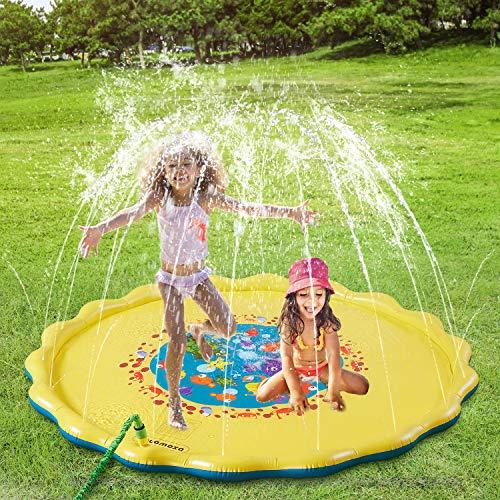 (COUOMOXA Splash Pad Outdoor Water Play Sprinklers Toy for Kids UpgradedInflatable68