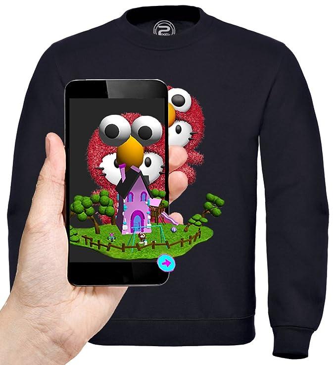 PIXEL EVOLUTION Sudadera 3D Elmo Hello Kitty de Realidad Aumentada Nino: Amazon.es: Ropa y accesorios