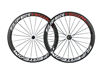Carbon Road Bike Amazon Com >> Amazon Com Superteam Carbon Fiber Road Bike Wheels 700c Clincher