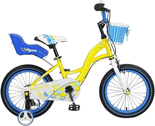 """YUMEIGE Bicicletas Bicicleta Freestyle para niños, niñas y niños Niños, instalación Simple Bicicleta para niños con Rotate Bell Bicycle Yellow 14 """"16"""" con Rueda de Entrenamiento Disponible: Amazon.es: Jardín"""
