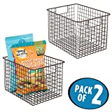pantry air freshener - mDesign Kitchen Pantry Organizing Wire Basket with Handles, 12