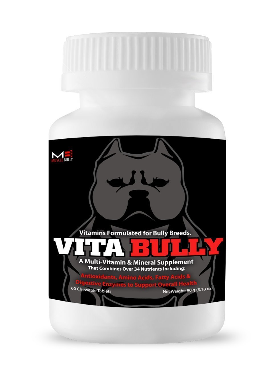 60 Vitamins Vita Bully Vitamins for Bully Breeds  Pit Bulls, American Bullies, Exotic Bullies, Bulldogs, Pocket Bullies, Made in the USA
