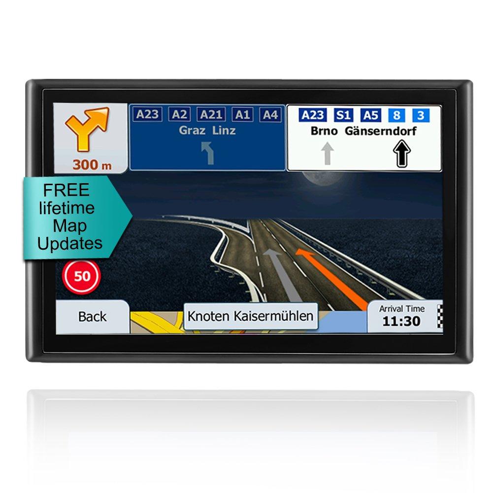 LONGRUF GPS Navigator-7inch&With 16GB of Memory 256MB Processor,Car GPS Navigation With Lifetime-free Maps