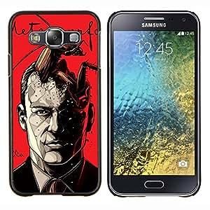 LECELL--Funda protectora / Cubierta / Piel For Samsung Galaxy E5 E500 -- Lectura del libro Metamorfosis de Kafka --