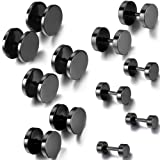 Amazon Price History for:Aroncent 12PCS 6 Pairs 4-14mm Stainless Steel Black Tapers Cheater Faux Fake Ear Plugs Gauges Stud Earrings Set