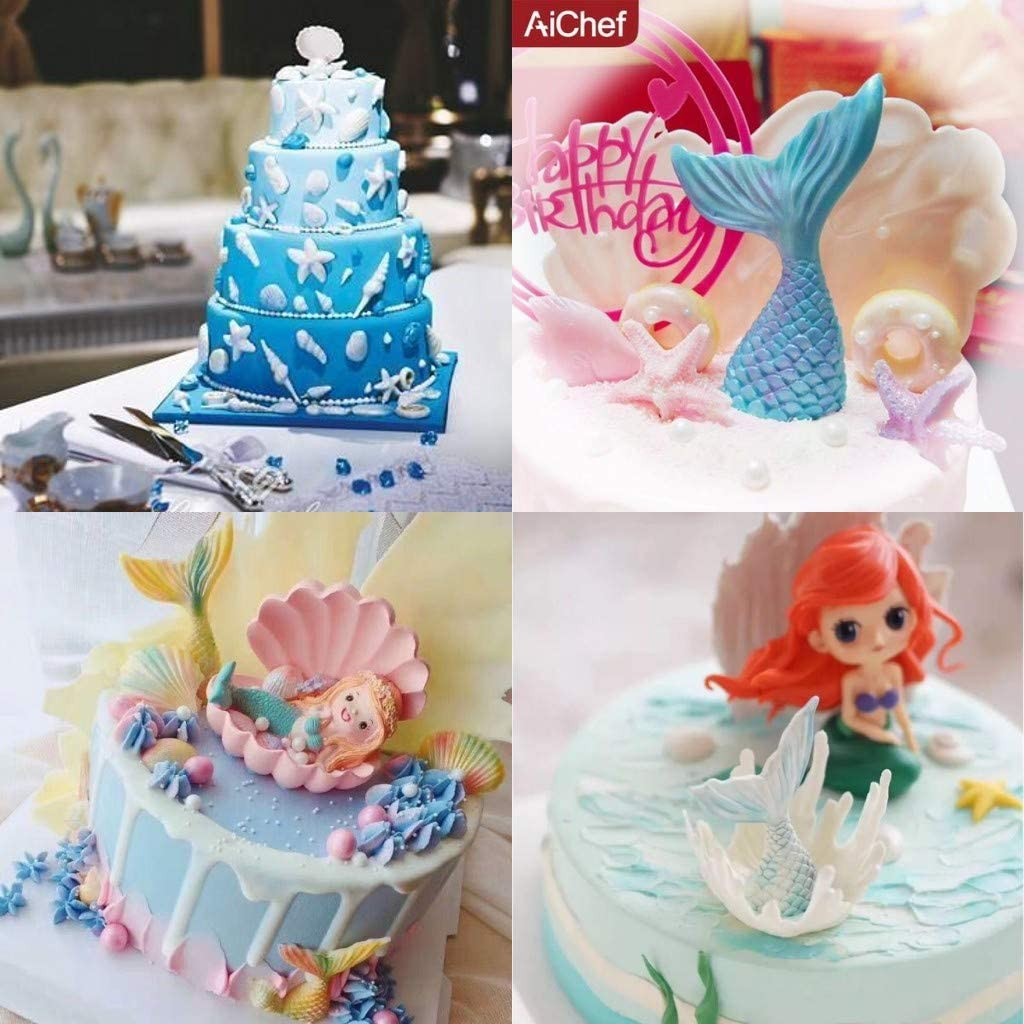 Dolphin Sea Silicone Mould Baking Cake Cupcake Topper Icing Decoration Y