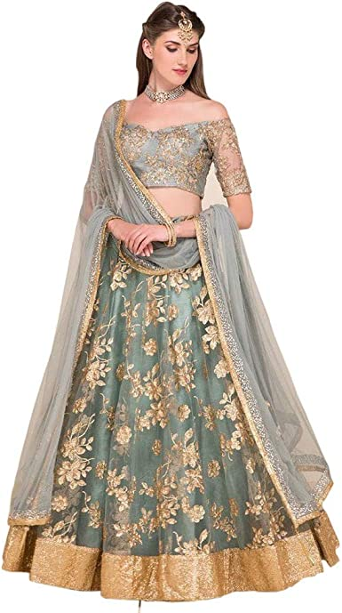 Amazon Com Lehenga Choli Party Wear Wedding Designer Bollywood Lengha 0057 Clothing