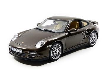 Norev 187622 - Vehículo miniatura - Porsche 911/997 Turbo - 2010 - Echelle 1/18, color marrón metal: Amazon.es: Juguetes y juegos