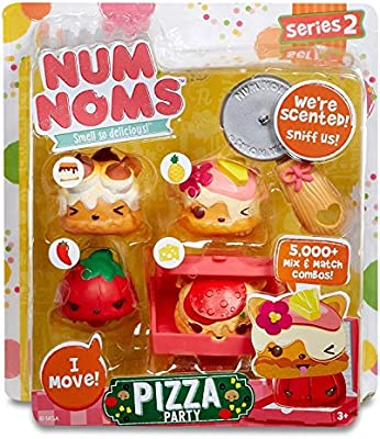 MGA Entertainment Num Noms Starter Pack Series 2 Pizza Party Cocina y Comida Estuche de Juego - Juegos de rol (Cocina y Comida, Estuche de Juego, 3 año(s), Chica, Multicolor, De plástico):