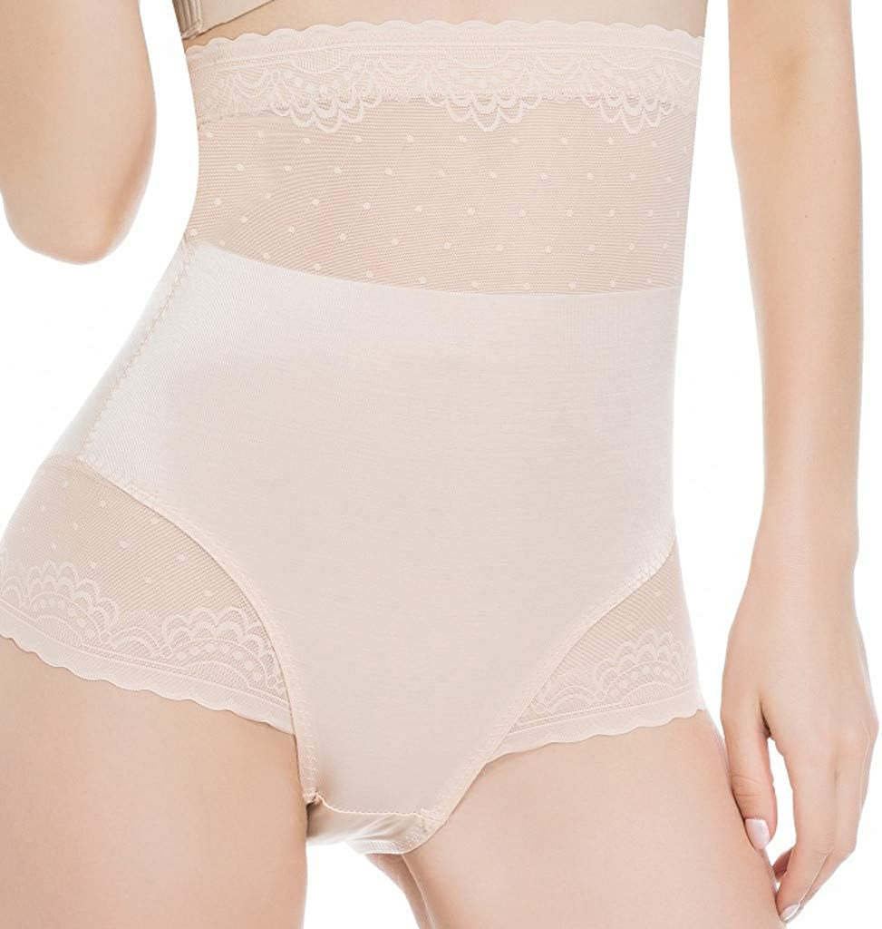 Allywit Panties for Women Body Shaper Briefs High Waist Tummy Control Panties Shaping Girdle Underwear Plus Size