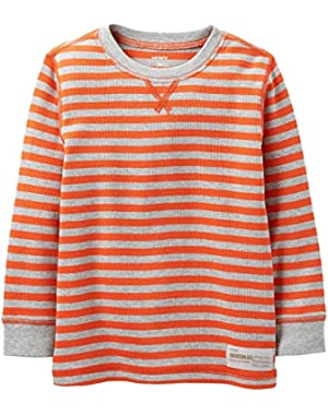 Carter's Baby Boys' Striped Thermal (Baby) - Orange