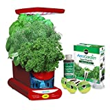 AeroGarden Sprout LED with Gourmet Herb Seed Pod Kit, Red