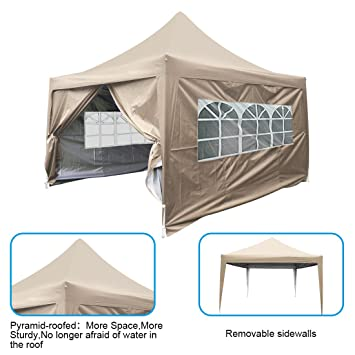 Peaktop 10Feetx10 Feet Pyramid-roofed EZ Pop Up Canopy Multifunctional tents C&ing tent /Party  sc 1 st  Amazon.com & Amazon.com: Peaktop 10Feetx10 Feet Pyramid-roofed EZ Pop Up Canopy ...