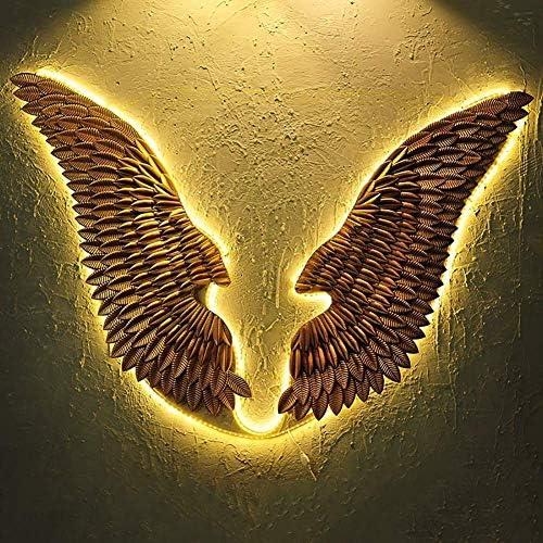 Unbekannt Golden Wing Skulptur Wanddekoration EIN Paar Engelsfl/ügel Vintage Loft Schmiedeeisen Garten Bar Cafe Weihnachten Wandbehang Skulpturen