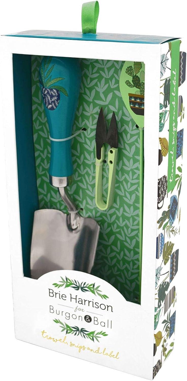 Gardening Hand Tools Burgon and Ball Brie Harrison Trowel Snips /& Label Set Gardening Gift Set