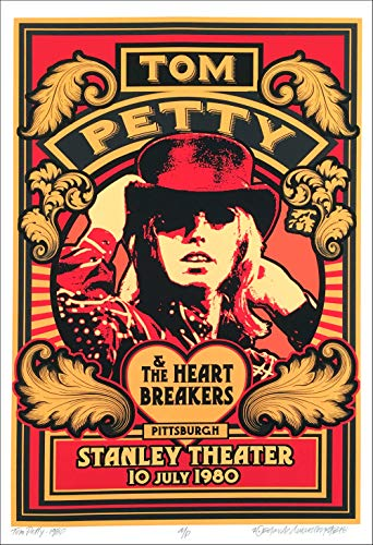 Tom Petty Poster Historic Stanley Theater Pittsburgh 1980 New S/N David Byrd COA