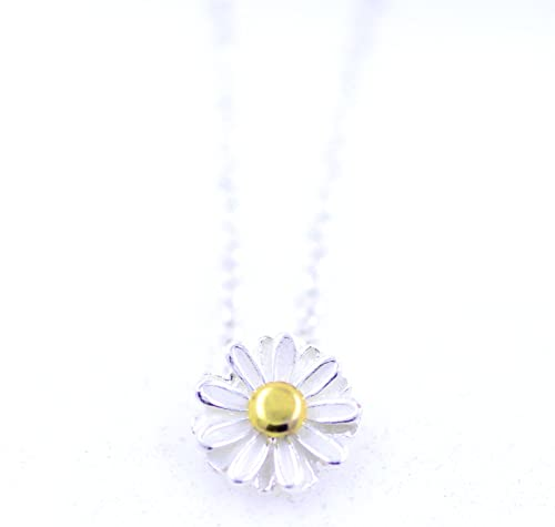 lizzyoftheflowers. Beautiful 1 cm weiß Emaille Daisy Kette Halskette ...