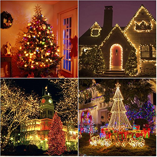 ALITOVE LED Christmas String Light Star Fairy Lights 12Ft 35 LEDs Warm White Waterproof Connectable UL Listed Rope Light for Xmas Tree Patio Garden Halloween Party Indoor Outdoor Décor
