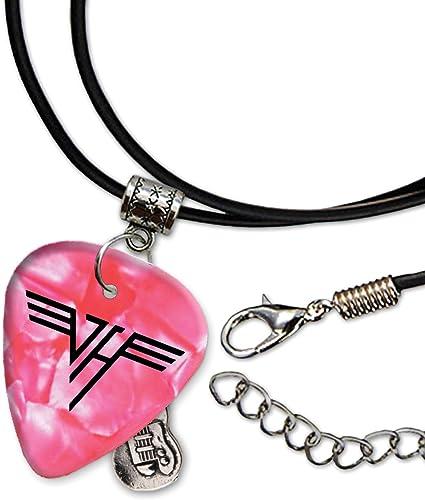 Van Halen Band Logo Pink Collar de cordón de púa de guitarra (H ...