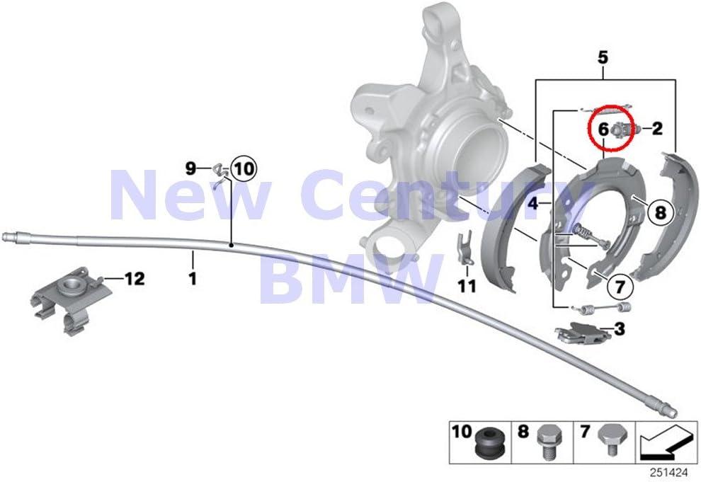 Parking Brake Shoe Bonded Emergency B831 07-12 335I With Springs