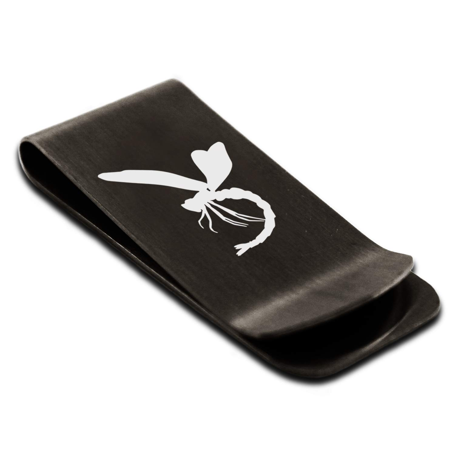 Stainless Steel Dragonfly Money Clip Credit Card Holder