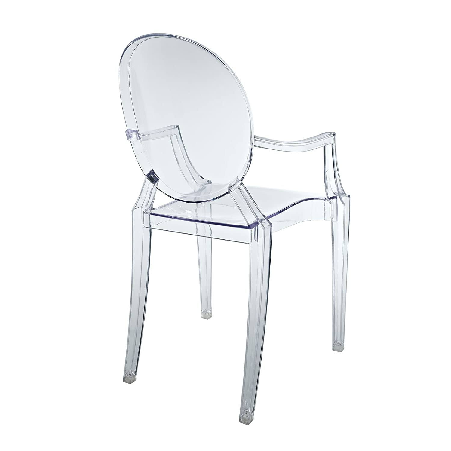 amazoncom modway casper kids chair in clear kitchen  dining -