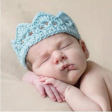 BANCN Hecho a Mano bebé recién Nacido Gorro de Ganchillo Knit Corona ...