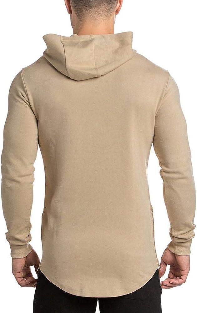 MECH-ENG Mens Gym Workout Hoodie Casual Long Sleeve Pullover Sweatshirt