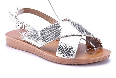 Schuhtempel24 Damen Schuhe Sandalen Sandaletten flach  Amazon.de ... 9adc3d6ed4