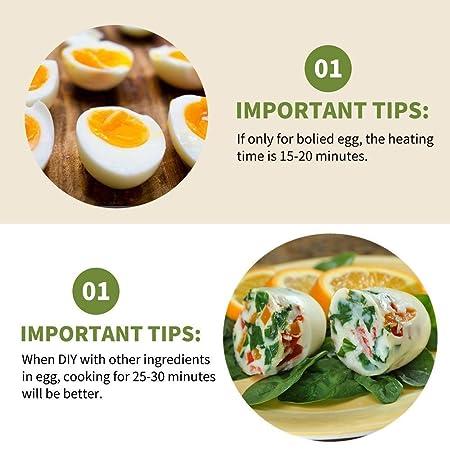 Huevo Cooker como visto en TV duro y suave hervidor de silicona ...